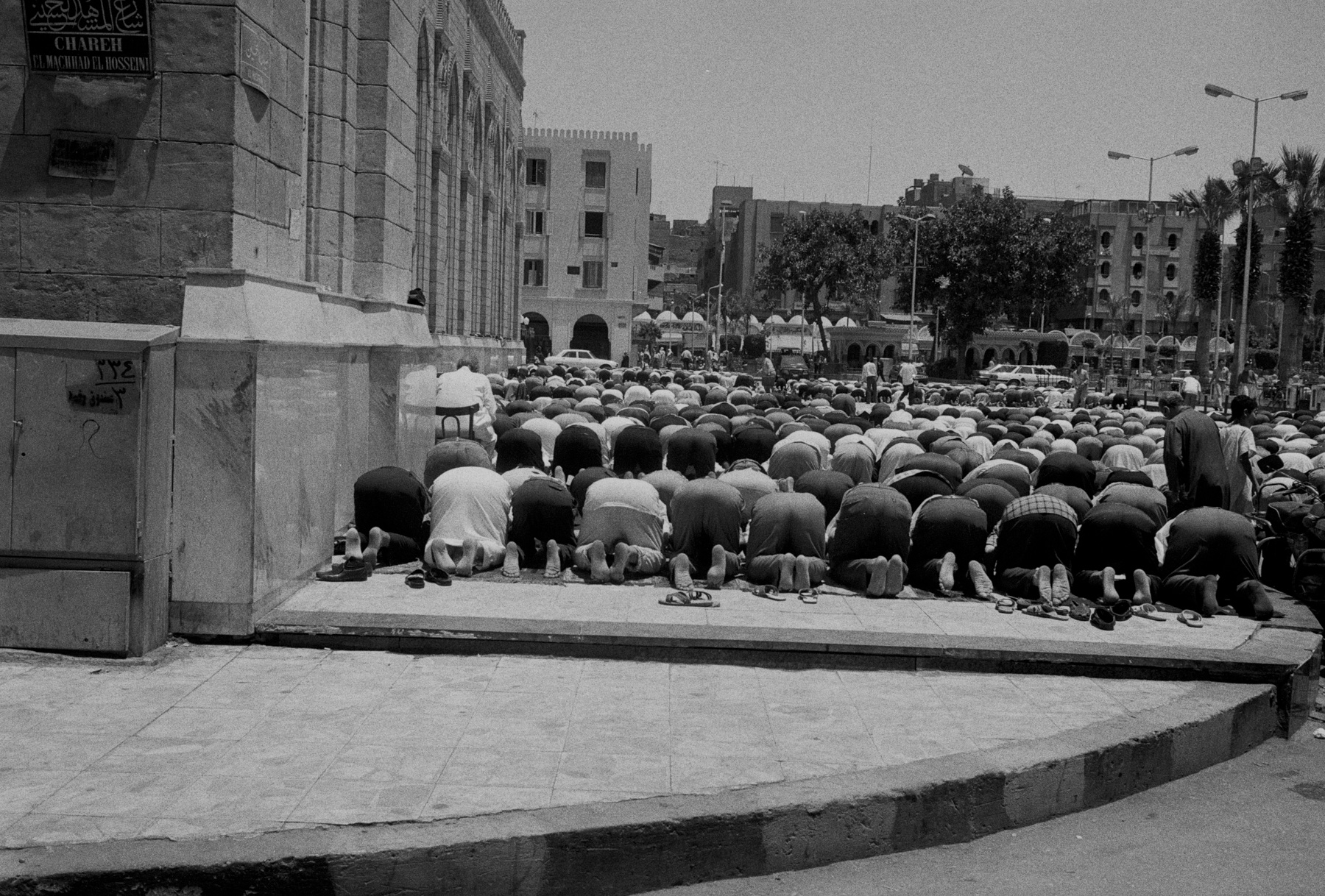 Friday Noon Prayer outside Al Ashar Mosque